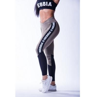 Nebbia High waist mesh leggings 601 Khaki