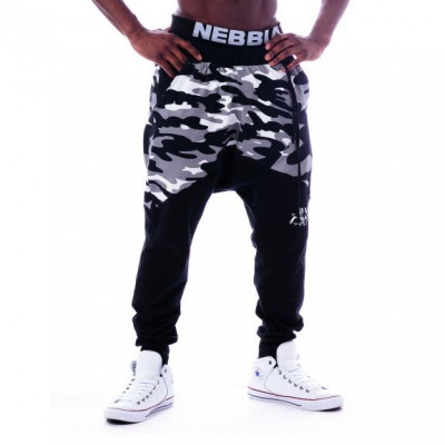 Nebbia Sweatpants Camo 117 Black