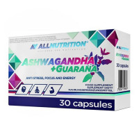 AllNutrition Ashwagandha + Guarana 30caps