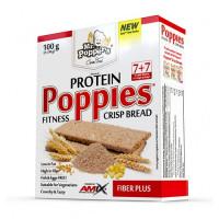 AMIX Poppies Crisp Bread Protein 100g Fiber Plus