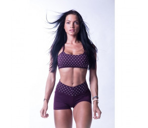 "Nebbia ""Ns"" fitness bra 647 Burgundy"