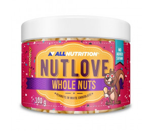 AllNutrition Nutlove Whole Nuts Peanuts In White Chocolate 300g