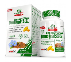 AMIX ProVegan Omega 3-6-9 Flaxseed 1000mg 60 softgels