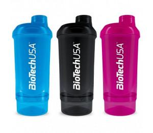 BioTech USA Shaker Wave + Compact 500ml (+150ml)