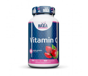 Haya Labs Vitamin C with Rose Hips 500mg 100caps