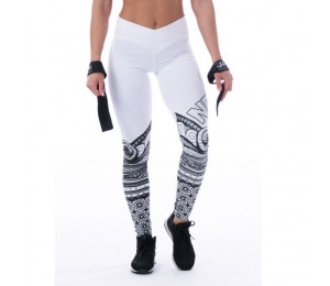 Nebbia Leggings Tights Tattoo 215 White