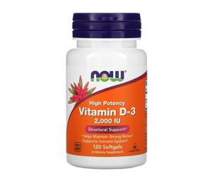 Now Foods Vitamin D3 2000IU 120 softgels