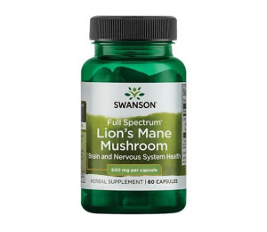 Swanson Full Spectrum Lion's Mane Mushroom 500mg 60caps