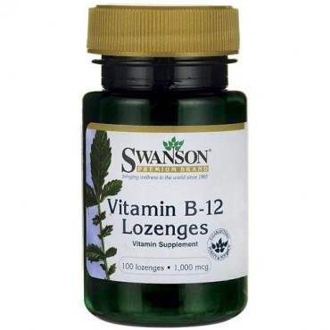 Swanson Vitamin B12 1000mcg, 100 lozenges