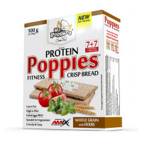AMIX Poppies Crisp Bread Protein 100g Whole Grain with Herbs