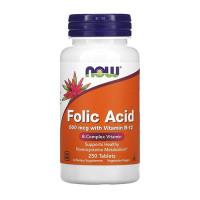Now Foods Folic Acid 800 mcg 250tabs