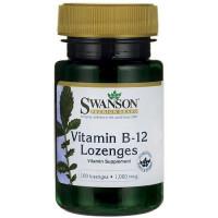 Swanson Vitamin B12 1000mcg, 100 lozenges (Parim enne: 07.2019)