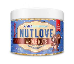 AllNutrition Nutlove Whole Nuts Almonds In White Chocolate with Coconut 300g