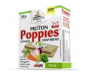 AMIX Poppies Crisp Bread Protein 100g Veggie