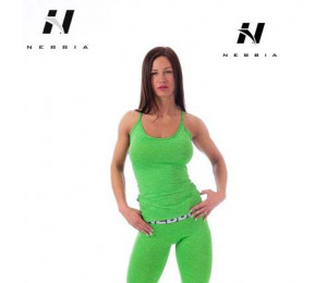 Nebbia Tight Singlet 224 Green
