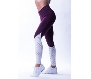 "Nebbia High waist ""Ns"" leggings 638 Burgundy/Vanilla"