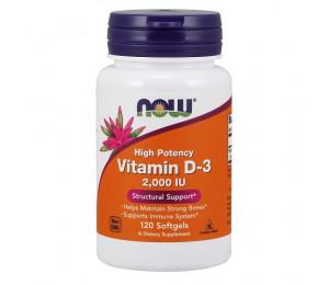 Now Foods Vitamin D3 2000iu, 120 softgels