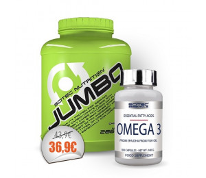 Scitec Jumbo 2860g + Omega 3 100caps