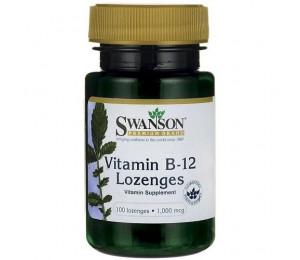 Swanson Vitamin B12 1000mcg, 100 lozenges (Parim enne: 01.2020)