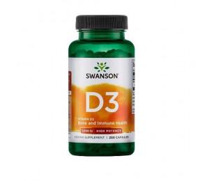 Swanson Vitamin D3 1000IU 250caps