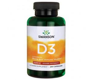 Swanson Vitamin D3 2000IU, 250caps