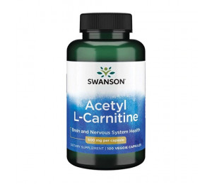Swanson Acetyl L-Carnitine 500mg 100vcaps