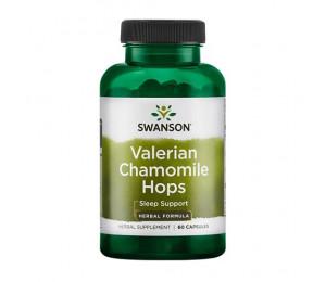 Swanson Valerian Chamomile Hops 60caps