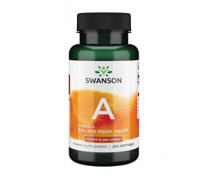 Swanson Vitamin A 10000IU 250 softgels