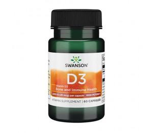 Swanson Vitamin D3 1000IU 60caps