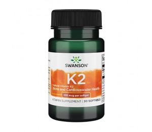 Swanson Vitamin K-2 100mcg 30caps