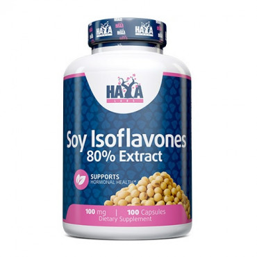 Haya Labs Soy Isoflavones 80% Extract NON-GMO 100mg, 100caps