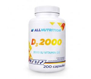 AllNutrition Vitamin D3 2000IU 200 softgels