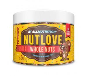 AllNutrition Nutlove Whole Nuts Almonds In Milk Chocolate 300g