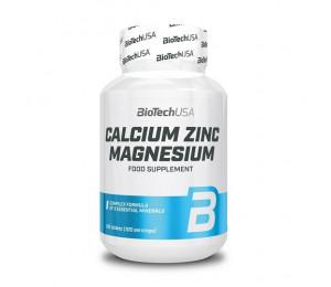 BioTech USA Calcium Zinc Magnesium, 100tabs