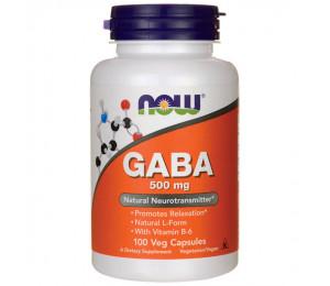 Now Foods GABA 500mg, 100veg.caps