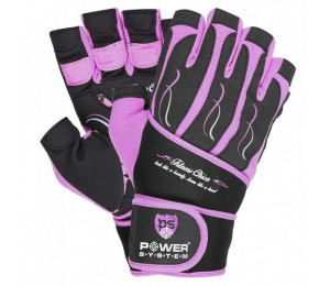 """Power System Ladies Fitness gloves """"Fitness Chika"""" Pink"""