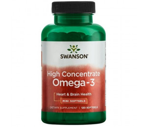 Swanson High Concentrate Omega 3, 120 softgels