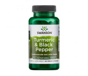 Swanson Turmeric & Black Pepper 60vcaps