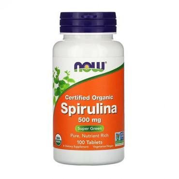 Now Foods Certified Organic Spirulina 500mg 100vtabs