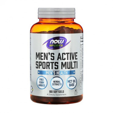 Now Foods Men's Active Sports Multi 180 softgels